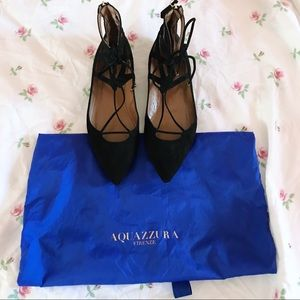 FLASH SALE Aquazzura Belgravia Suede Flats!!
